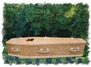Oak Box Lid Coffin