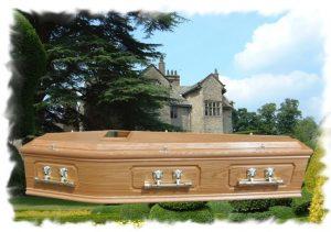 Oak Raised Lid Panel Coffin